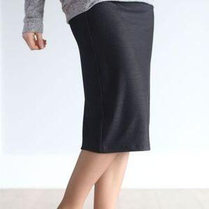 Size 6/8 Black Denim Knit Stretch Skirt